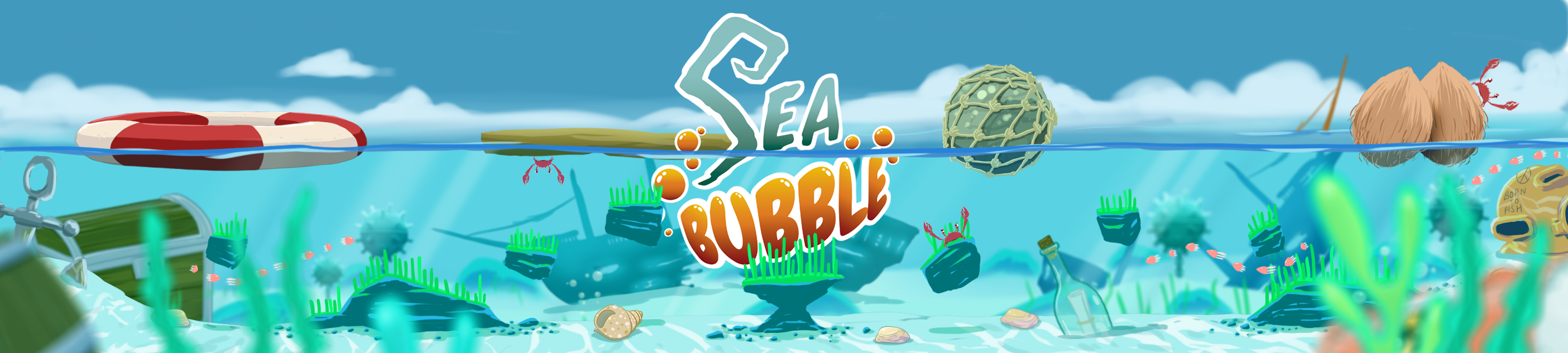 Sea Bubble Game Logo