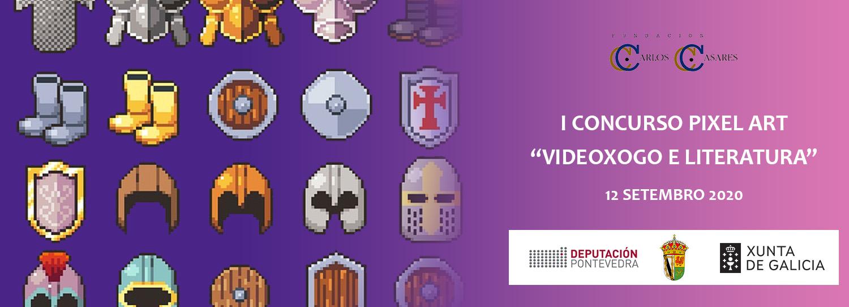 cartel informativo convocatoria concurso pixel art