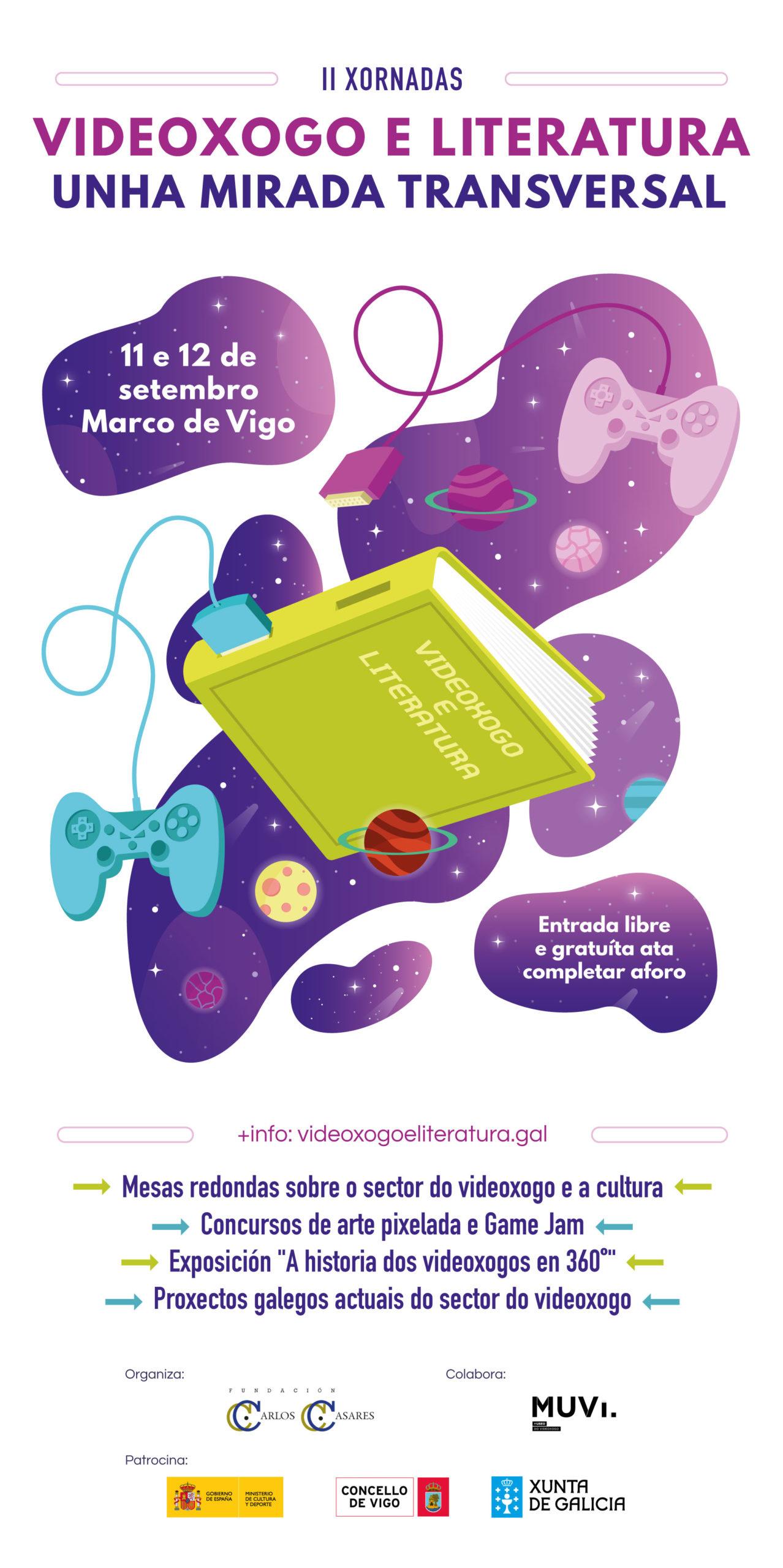 cartel informativo de II xornadas de videoxogo e literatura