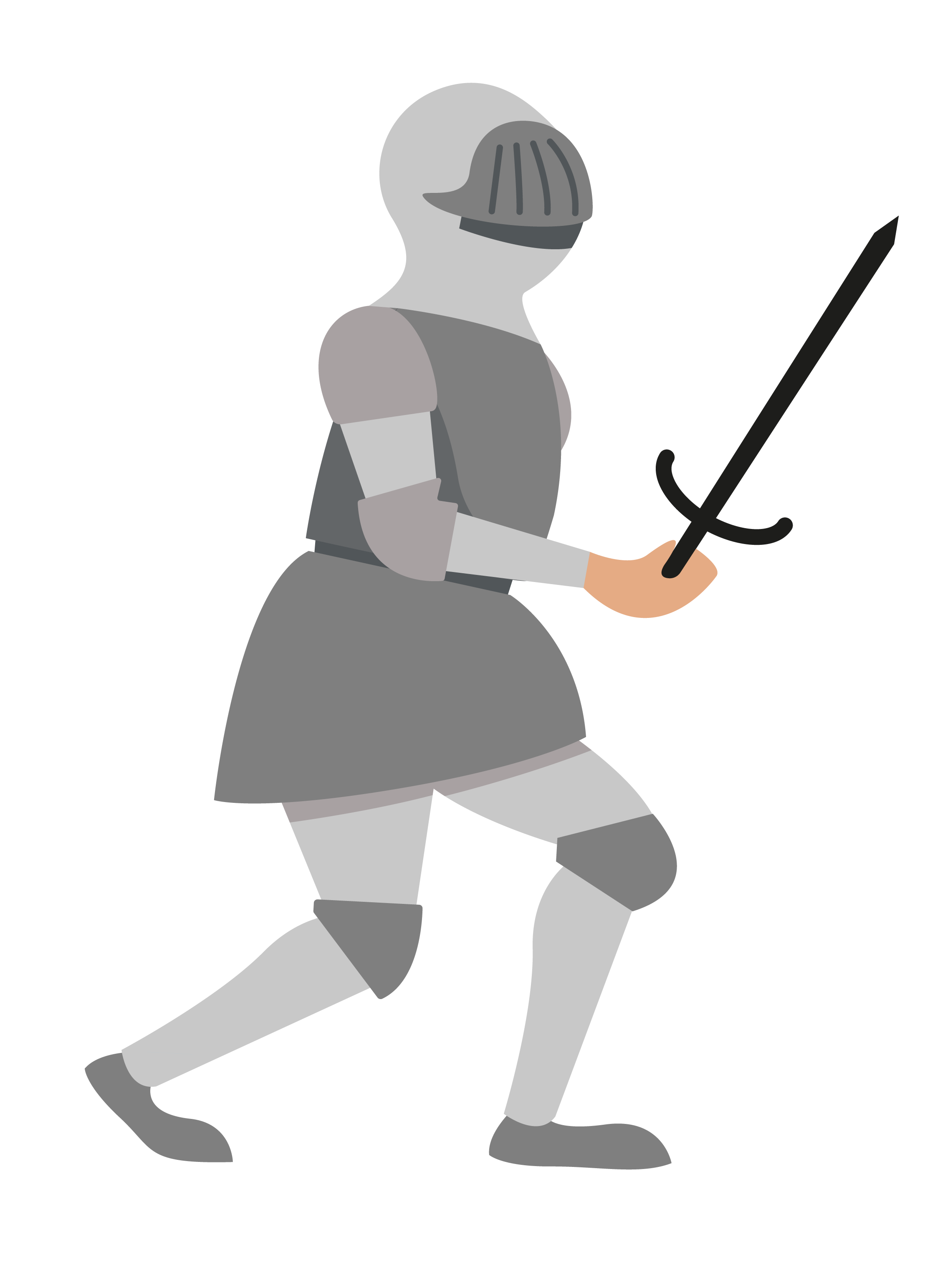 ilustración de caballero armado