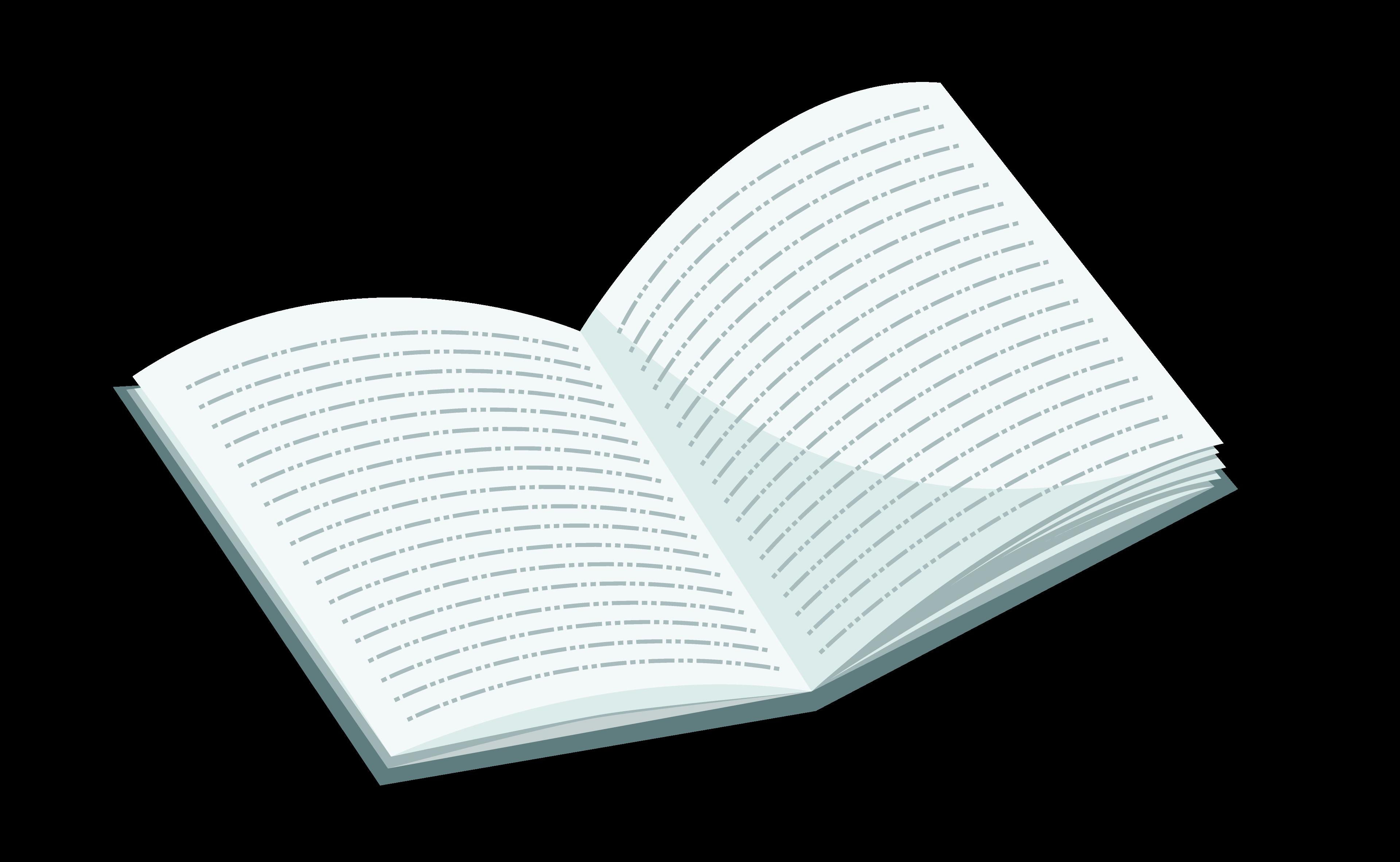 ilustracion de libro abierto