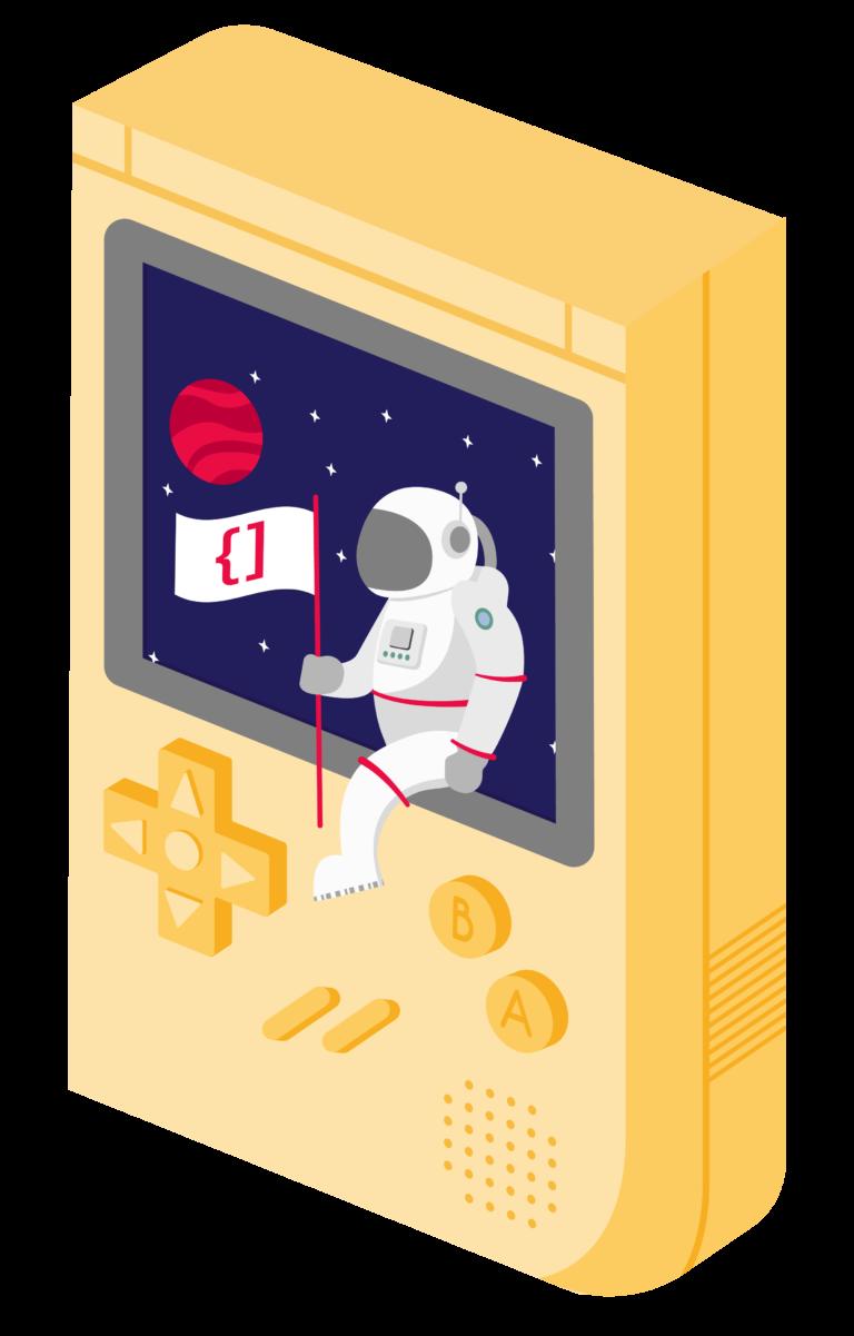 ilustración de consola portátil